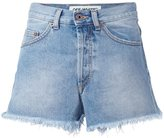 Off-White raw edge denim shorts