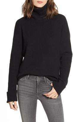 Chelsea28 Chelsea 28 Ribbed Turtleneck Cotton & Wool Blend Sweater