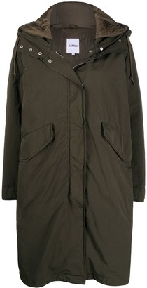 Aspesi Drawstring Hood Parka Coat