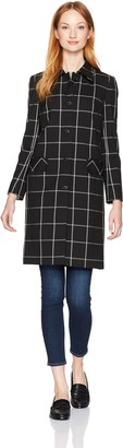 Jones New York Women's Big Windowpane Washable Suiting Coat
