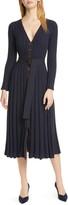 Nicholas Azar Ribbed Long Sleeve Midi Dress