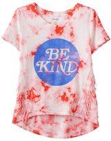 Mudd Girls 7-16 & Plus Size Tie-Dye Ombre Fringe Tee