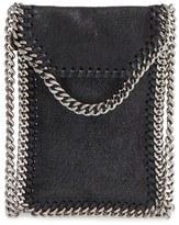 Stella McCartney 'Falabella' Faux Leather Crossbody Phone Pouch - Black