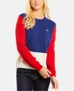 Lacoste Wool Colorblocked Sweater