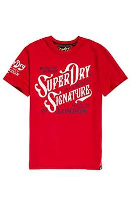 Superdry Men's Flagship TEE T-Shirt, (Eagle Red A7Z), XL