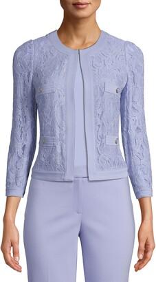 Anne Klein Framed Lace Jacket