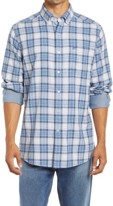 Southern Tide Classic Fit Plaid Chambray Button-Down Shirt