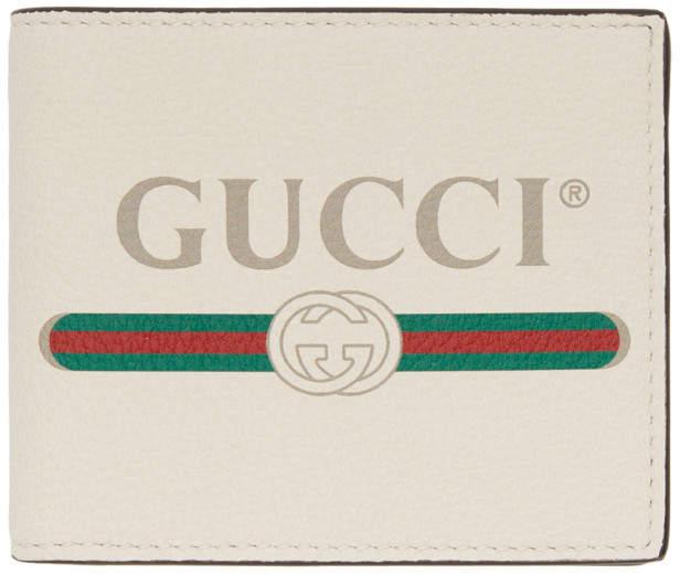 Gucci White Logo Wallet