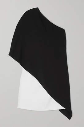 Givenchy Asymmetric Two-tone Cady Dress