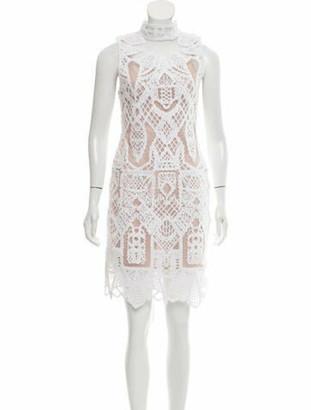 Jonathan Simkhai Lace Pattern Knee-Length Dress w/ Tags White