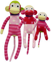 Sockie Monkey 3 Piece Family Plush Toy Set