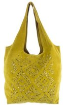 Cynthia Vincent Embellished Suede Tote