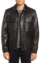 Andrew Marc Andover Leather Bomber Jacket