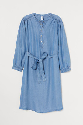 H&M MAMA Lyocell Dress - Blue