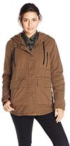 Volcom Juniors' Stand Up Hooded Military Parka Jacket