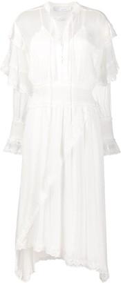 IRO Ruffle Trim Lace-Up Dress