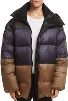 Public School Gombu Hooded Color-Block Down Jacket