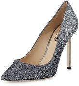 XYD Women Pointy Slip-On Stilettos Pumps Shoes Glitter Formal Evening Heels Size 10