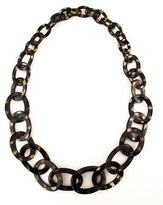 NEST Jewelry Spotted Horn Link Necklace, Brown
