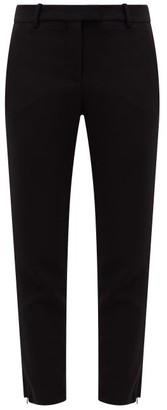 Altuzarra Henri Zipped-cuff Crepe Cropped Trousers - Womens - Black