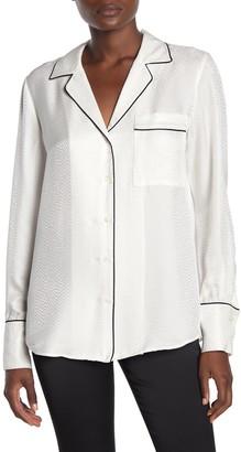 Frame Piped PJ Velvet Button Down Shirt