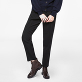 Paul Smith Women's Black Virgin Wool Double-Pleat Trousers