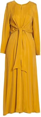 AILANTO Mustard Bow Dress