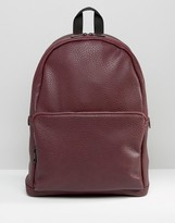 Asos Backpack In Faux Leather