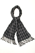 Black Grey Check Scarf