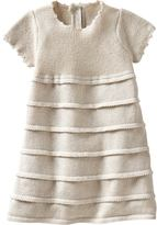 Sparkly tiered sweater dress