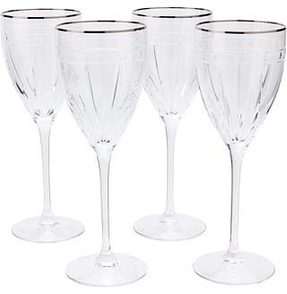Lenox Vintage Jewel Platinum Signature Wine Glass Set of 4