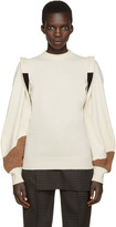 Toga Beige Panelled Sweater