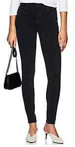 J Brand Women's Maria High-Rise Skinny Jeans - Black