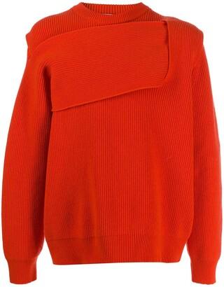 Bottega Veneta Intrecciato-style rib-knit jumper