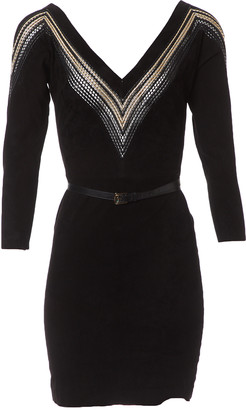 Jitrois Black Suede Dress for Women