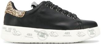 Premiata Platform Glitter Sneakers