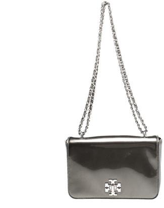 Tory Burch Olive Green Patent Leather Mercer Shoulder Bag
