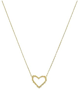 Kendra Scott Sophee Heart Small Pendant Necklace (Gold Metal) Necklace