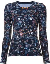 Lucas Hugh floral print fine knit sweatshirt