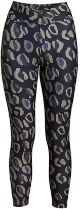YEAR OF OURS Veronica Leopard-Print Leggings