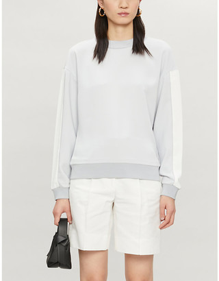Ted Baker Contrast-panel relaxed-fit crepe jumper