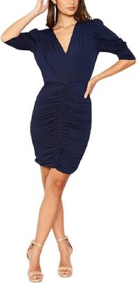 AX Paris Ruched Cut Out Back Mini Dress