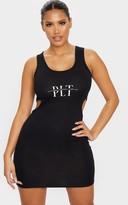 PrettyLittleThing Syze Shape Black Jersey Cut Out Bodycon Dress