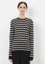 Marni black long sleeve striped sweater