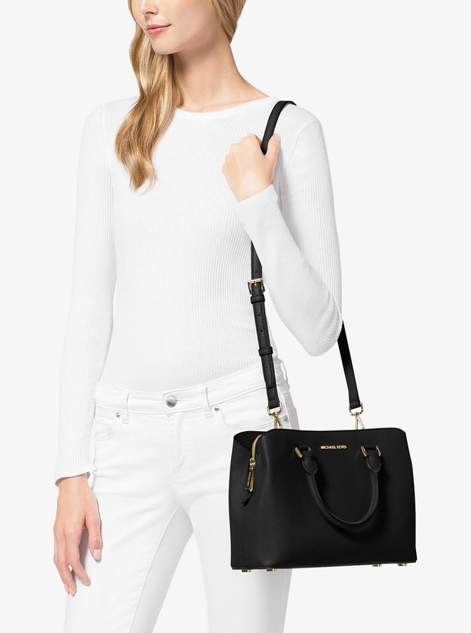 13c8576d02f5 Michael Kors Saffiano Leather Handbag - ShopStyle