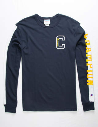 Champion Block C Navy Mens T-Shirt