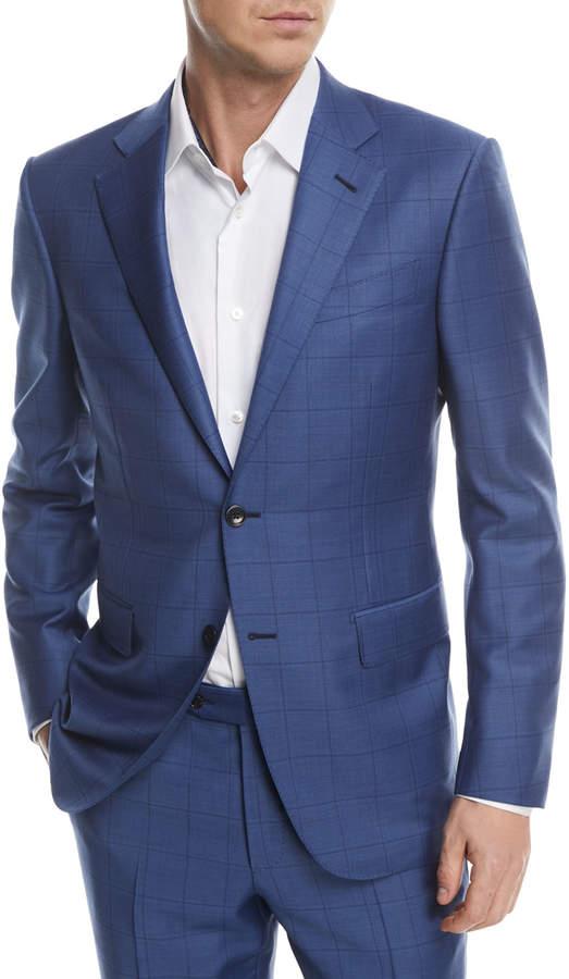Ermenegildo Zegna Windowpane Trofeo Wool Two-Piece Suit