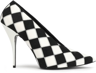 Stella McCartney Checked Faux Leather Pumps