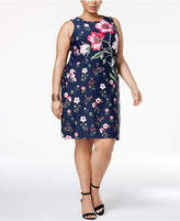 Charter Club Plus Size Floral-Print Sheath Dress, Created for Macy's