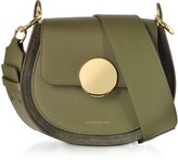 Le Parmentier Yucca Suede and Leather Shoulder Bag